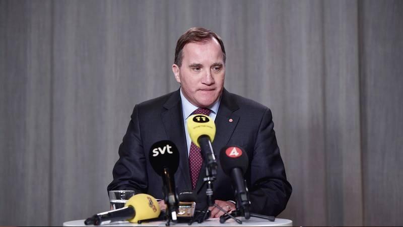 Stefan Löfven håller pressträff efter terrordådet i Nya Zeeland