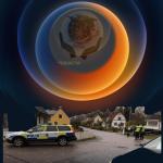 Stor polisinsats:   utrymmer närliggande fastigheter